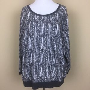Victoria's Secret Feather Patterned Pullover
